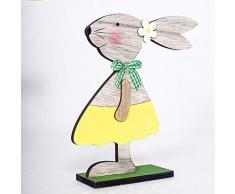 Decorazioni pasquali - Zariavo Coniglio in Legno Forme Ornamenti Regali Artigianali