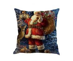 Cuscino di Christmas, Longra Buon Natale 45cmX45cm Babbo Natale Stampato Lenzuola Square Pillowcases (C)