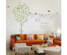 Ecloud Shop WALL STICKER CARTA DA PARATI ADESIVI MURALI DECAL ALBERO