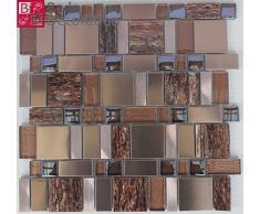 Alluminio acciaio inossidabile di mosaico di vetro mosaico piastrelle di mosaico di vetro marmo vetro Antik nuovo