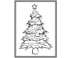 Darice Mascherina Albero di Natale Cartella Goffratura, Plastica, Trasparente, 10.8x14.6x0.3 cm