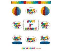 AMSCAN Add an Age Macro Zone Boy - Kit con accessori per decorazione, ideale per feste