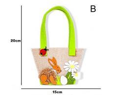 Sacchetti DIY Coniglietto Pasquale Confezione Regalo Pasqua Confezione Regalo per Coniglietto di Pasqua Confezione Regalo per confezionare Regali per Bambini e Adulti