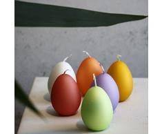 Cero pasquale Set decorativo candela uovo 60 X 45 mm Uova Pasqua candele candele