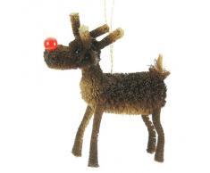 Gisela Graham - Decorazione per albero di Natale a forma di Rudolph la Renna, dimensione 10 cm