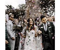 MIZOMOR Coriandoli Carta Rosa Oro Rosa Coriandoli da Tavola Rotondo Puntini di Coriandoli per Matrimonio Compleanno Festa Baby Shower Cerimonie Decorazione 50g 1.5cm