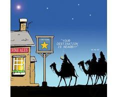 twizler Merry Christmas card con tre saggi, cammelli, Stella di Natale e pub – – Happy Biglietto Di Natale – auguri di Natale, divertente da donna di Natale biglietto di Natale – Biglietti di Natale di Natale per