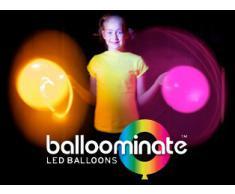 15x Balloominate Bianchi con led Multicolore - Palloncini Luminosi per Feste