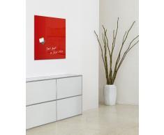 Lavagna magnetica in vetro artverum�, rossa, 48 x 48 cm