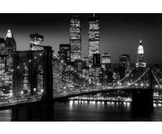 """Empire 105530 Poster """"New York Manhattan Brooklyn Bridge in bianco e nero"""" 91,5 x 61 cm"""