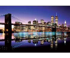"""Empire 170927 - Poster colorato """"New York Manhattan Brooklyn Bridge"""", 91,5 x 61 cm"""