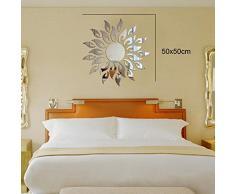 Walplus Sun Fire specchio poster murale, argento