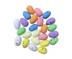 Amosfun 100pcs Uova di Uccelli Artificiali di Pasqua Uova di quaglia in Schiuma Colorate Uova di Gallina finte Giocattolo Alimentare per Ornamenti da Giardino per la casa di Pasqua