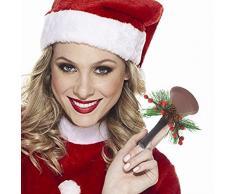 BAKAJI Campana Campanello Campanella di Babbo Natale Decorazione Natalizia Altezza 65mm in Metallo