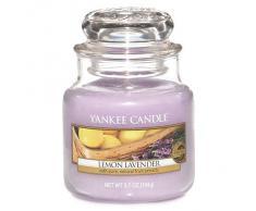 Yankee Candle 1073483E Candele in Giara Piccola Lemon Lavender, Viola, 6.3x6x5.5 cm