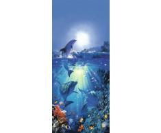 1art1, Fotomurale con stampa fotografica, motivo: Delfino nel sole (200 x 86 cm)