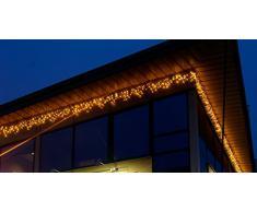 Best season 465-46 Icicle - Luci di natale LED, 300 x 40 cm, colore: Ambra