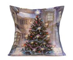 Buon Natale! Kword Natale Biancheria Federe Cuscino Cover Cuscino Divano Casa Decorazione (G)