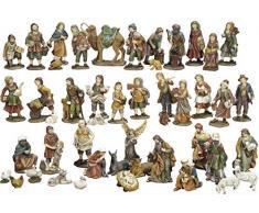 Articoli Religiosi by Paben Set Natività Presepe Completo 47 statuine in Resina cm. 11