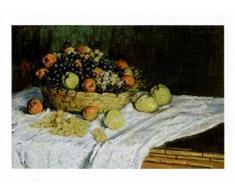 Claude Monet - Natura Morta Con Uva E Mele, 1880 Stampa D'Arte (30 x 24cm)