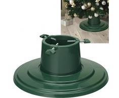 Supporto per albero di Natale, 40 cm, base rotonda per albero di Natale