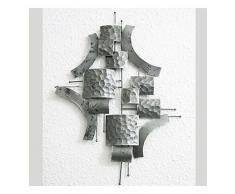 Piccolo Tabella Astratto Scultura da parete metallo momento intenso