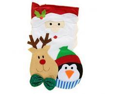 Natale Babbo Natale Calza Pinguin & Renna Natale