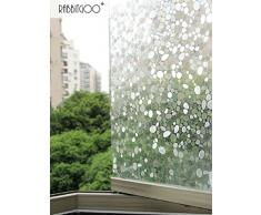 Rabbitgoo Pellicola Per Finestre Vetri-3D Bolle Decorativa,Autoadesive,Anti-UV,Controllo di Calore 90x200cm