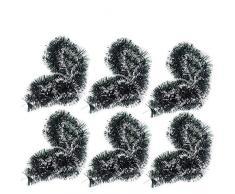 Hpamba Ghirlande Metalliche Scintillanti Tinsel Lucido Orpello per Matrimonio Albero di Natale Ghirlanda Tinsel Appendere Albero di Natale Ghirlanda Innevata Natale Lucido Ghirlanda Metallica 8 Pezzi