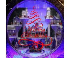 Adesivo albero di natale WINOMO Adesivi per vetrofanie vetrine finestre parete natalizi con frasi merry christmas in Rosso