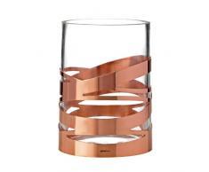 Stelton - Vaso Tangle con Elemento Decorativo in Rame, 12 x 17 cm