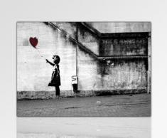 ps-art Banksy - Stampa su tela da parete, 120 x 80 cm, già montata sul telaio, da parete, decorativa, stile Pop Art