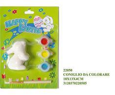 Idea Pasqua: blister coniglietto pasquale da decorare con tempere e pennello