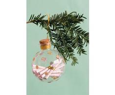Milestone 106-004-001 - Palla di Natale in vetro, per conservare i ricordi, con biglietti di carta