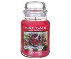 Yankee Candle, Candela profumata in barattolo, aroma: Red Raspberry, Rosso (Rot), misura grande