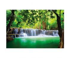 Poster Cascata Feng Shui Decorazioni pareti natura giungla paesaggio paradiso vacanze in Tailandia Asia spa relax | Foto Murale Poster Murali Immagine Poster da parete by GREAT ART (140 x 100 cm)