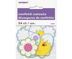 Pasqua pulcino e coniglietto Cut out confetti Table Sprinkles party Decorations x 24