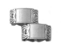 Werkstätte Chlada 3803 2, Set di 2 anelli portatovaglioli, colore: Argento