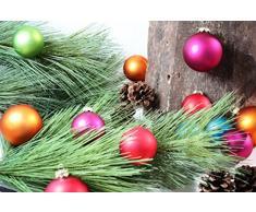 Inge-glas 1558D003 Palline per albero di Natale 60 mm, barattolo da 28 pezzi, colore: Multicolore