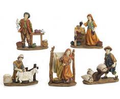 Articoli Religiosi by Paben Set 5 statuine Personaggi Mestieranti per presepe cm. 15
