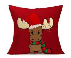 Federa di Natale, Scpink Vendita di liquidazione! Fodera per Cuscino per Fodera in Cartone Animato di Natale (T)
