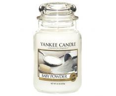 Yankee candle 1122150E Giara Baby Powder Grande-Candele profumate, Multicolore, Vaso