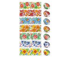 Applicazioni per decorare uova di Pasqua.Rivestimento crespo per uova di Pasqua.Decorazione floreale.Design a fiori.Numero 19.Sufficienti per 7 uova