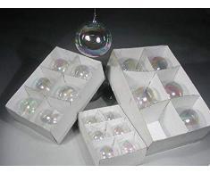 Tabor Cf6 Bocce Vetro D.10 Irid. Accessori Albero Natale Addobbi Natalizi Regalo 612, Multicolore, 8003429922283