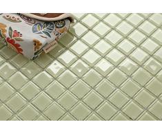 Vetro mosaico piastrelle opaca in chiaro verde (MT0021)