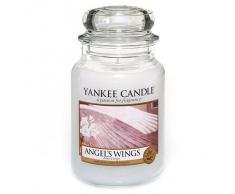 Yankee candle 1306395E Angels Wings Candele in giara grande, Vetro, Bianco, 10.1x10.1x17.7 cm