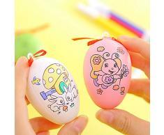 Gracorgzjs - Divertente Penna a Forma di Uovo di Pasqua Dipinta a Mano, Decorazione da Appendere per Bambini, Colore Casuale Random Color
