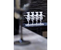 Kare 69748 Statuetta decorativa mucche danzanti in poliresina 39.5x7x23 cm