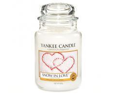 Yankee Candle candela profumata in giara grande, Snow in love, durata: fino a 150 ore, fragranze naturali