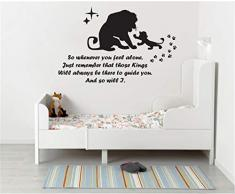 adesivo murale bambini Re leone decalcomania leone re ogni volta che si sente da solo wall sticker decalcomania di arte citazione bambini vivaio decalcomania del vinile